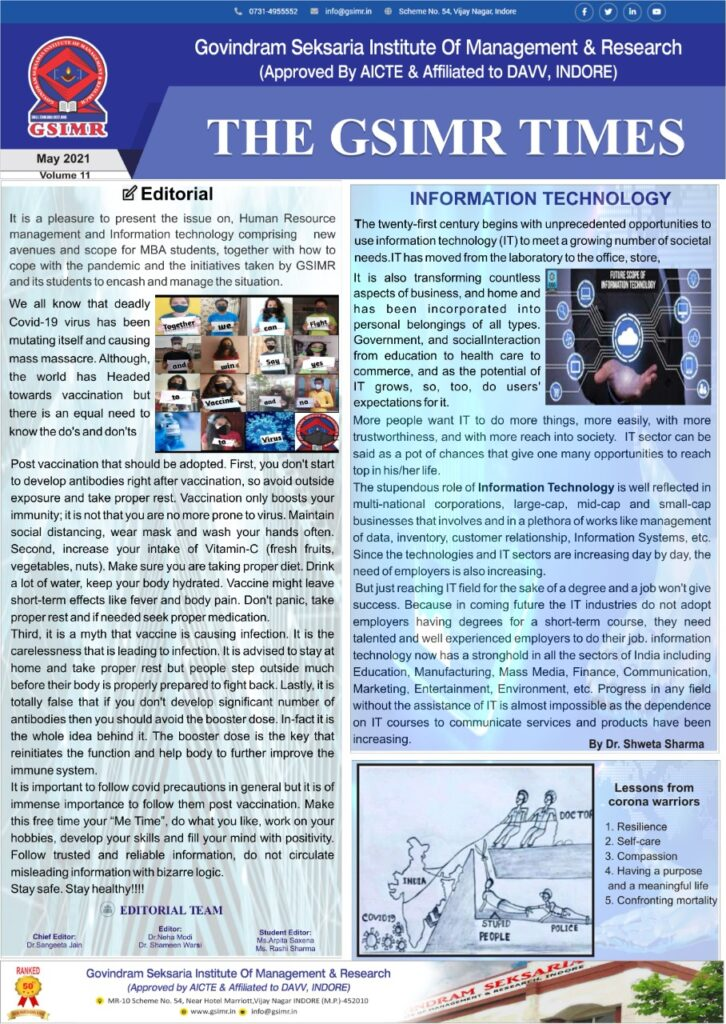News letter may21